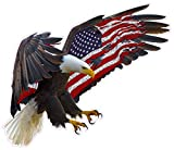 Nostalgia Decals Super Store American Eagle American Flag 6' Decal in The United States