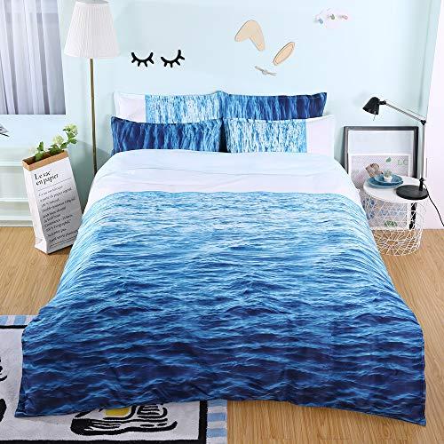 BH-JJSMGS Sea beach bedding package, printed duvet cover and pillowcase, sea surface 240x220cm