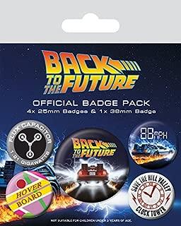 Pyramid International Back To The Future Delorean Badge, Multi-colour, 10 x