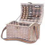 Cesta de picnic viejo-chic estilo para 2 con accesorios - El regalo perfecto para un cumpleaños, aniversario, boda, compromiso, aniversario