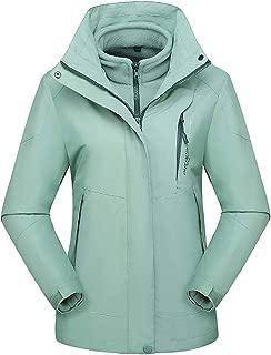FWEIP 2Pcs Waterproof Jacket Women Hoodie Detachable Breathable Outdoor Wild Tracksuit Climbing Skating Winter Coat