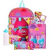 Dreamworks Trolls School Supplies Bundle - 5 Pc Trolls Backpack Set Including Trolls School Bag, Lunchbox, Water Bottle, Stickers, And More! (Trolls School Accessories)