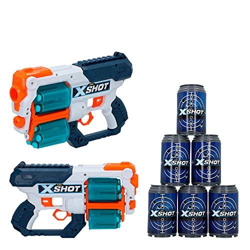 X-Shot - Set 2 pistolas con botes XCESS X-Shot (46272)