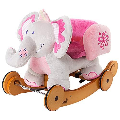 Plush rocking ride elephant