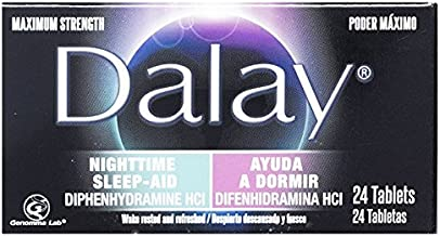 Dalay Nighttime Sleep-Aid Maximum Strength (Single Bottle with 24 Tablets)