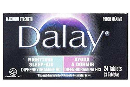 Dalay Nighttime Sleep-Aid Maximum Strength (Single Bottle with 24 Tablets)