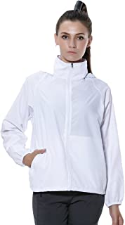Sanke ウインドブラスト フード付 ウインドジャケット レディース アウター 超軽量 防水 防風 UVカット ウェア アウトドア ジップ ジャンパー ヤッケ パーカー