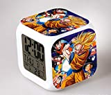 Reloj despertador digital Anime LED Color luz táctil Super