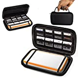 2DSXL Case, Orzly Carry Case for New Nintendo 2DS XL - Protective Hard Shell Portable Travel Case Pouch for New 2DS XL Console with Slots for Games & Zip Pocket - Black on Black