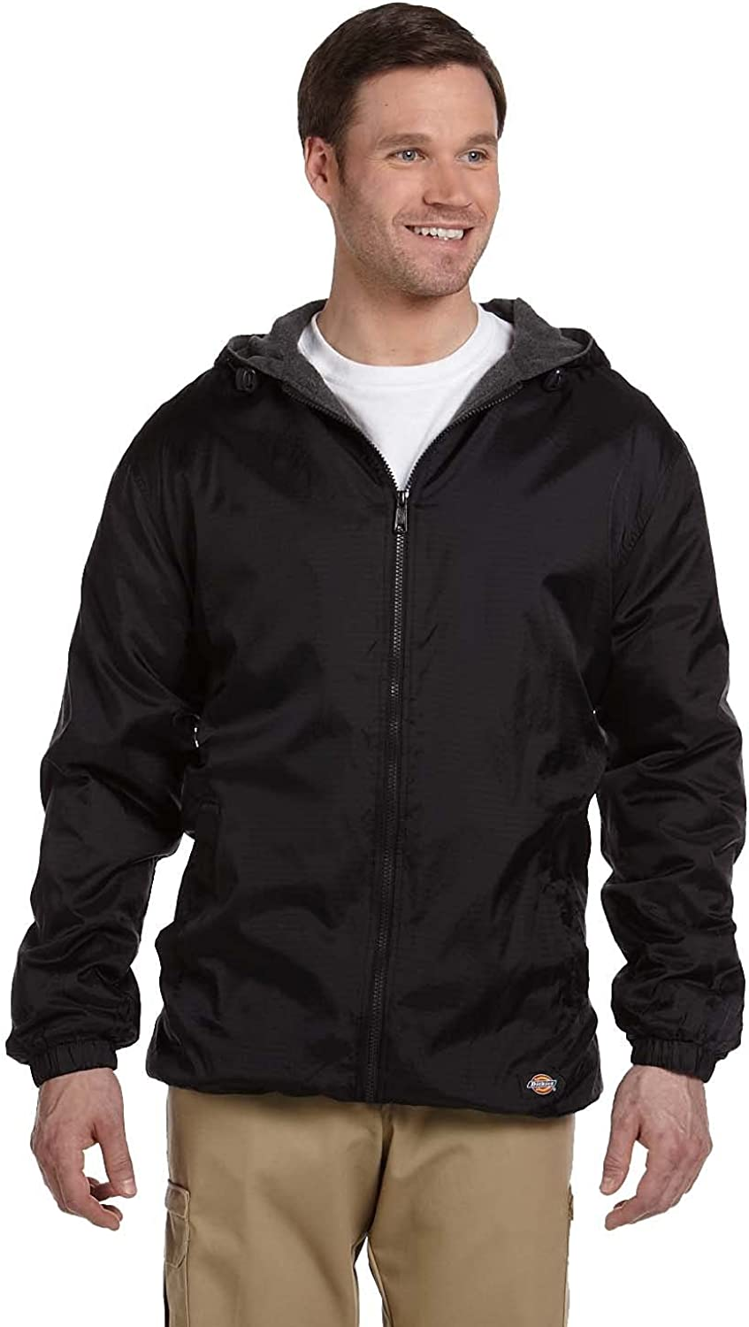 Dickies mens Big and Tall Fleece Lined Hooded Jacket