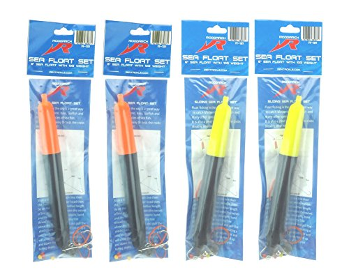 Roddarch 4 X Sea Fishing Float Set Includes Floats Hooks Beads Weights Stops Instructions