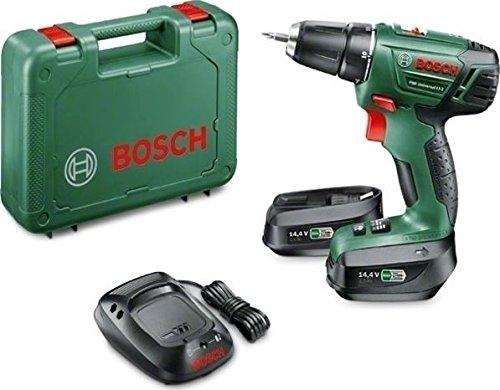 Bosch Bricolage 06039A3004 PSR Universal LI-2 da 14,4 V- Trapano-avvitatore senza fili, batteria al litio