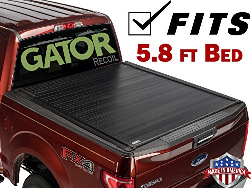 Gator Recoil Retractable Truck Bed Tonneau Cover | G30481 | Fits 2019 - 2020 GM/Chevy Sierra/Silverado 5' 8' Bed | Made in the USA