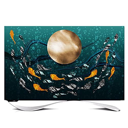 Funda Tv Exterior Impermeable y A Prueba de Polvo Medio Diseño de Paquetes Protección Completa de La Tv Cubiertas de Televisión Universales Al Aire Libre de 32 A 85 Pulgadas(Size:49-52in/W118cmxH70cm)