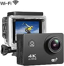 Sports Action Camera 4K 16MP Ultra HD Waterproof Sports Camera 170°Wide Angle/ 2