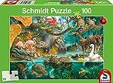 Schmidt Spiele- Rompecabezas Infantil de 100 Piezas en la Orilla, Color carbón (56306)
