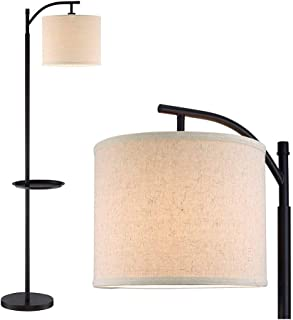 "Led Desk Lamp Floor Lamp 63"" Minimalist Tray LED Floor Lamp (LED, Energy Efficient/Eco-Friendly) Beige Shade - Modern Stan..."