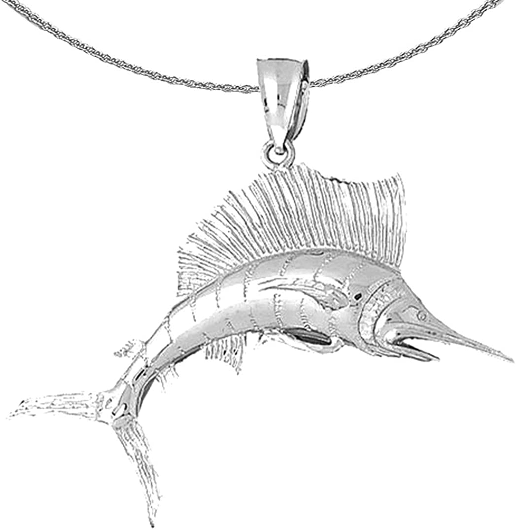 Jewels Obsession Silver Sailfish specialty shop S Necklace 925 Rhodium-plated Ranking TOP17