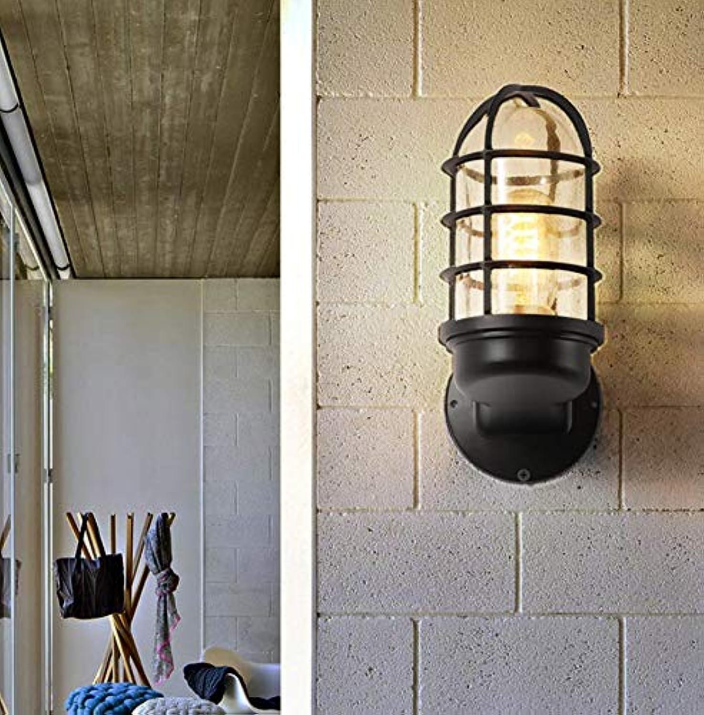 Wohnzimmer-Nachttisch kreative Retro-Wandlampe Amerikanische einfache Innenstudie Balkon Ganglichter
