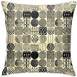 Azalea Store - Funda para cojín de tiro redondo, color negro, funda suave para cojín cuadrado para sofá cama dormitorio para coche 18 x 18 pulgadas