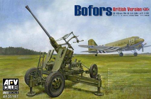 AFV-Club AF35187 British Vers of Bofors MkIII AA Gun, Waffen und Wehrtechnik, 40 mm