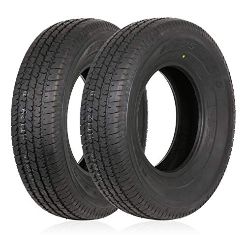 Weize ST225/75R15 Radial Trailer Tire 117M 10-Ply Load Range E,Set of 2