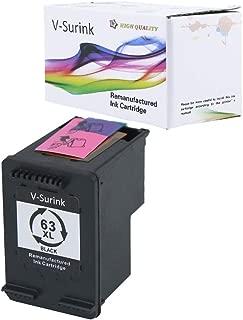 V-Surink Remanufactured Ink Cartridge Replacement for Hp 63XL (1 Black) Used in Envy 4520 4516 Officejet 5255 5258 4655 4650 3830 3831 4655 Deskjet 2130 2132 1112 3630 3633 3634 Printer