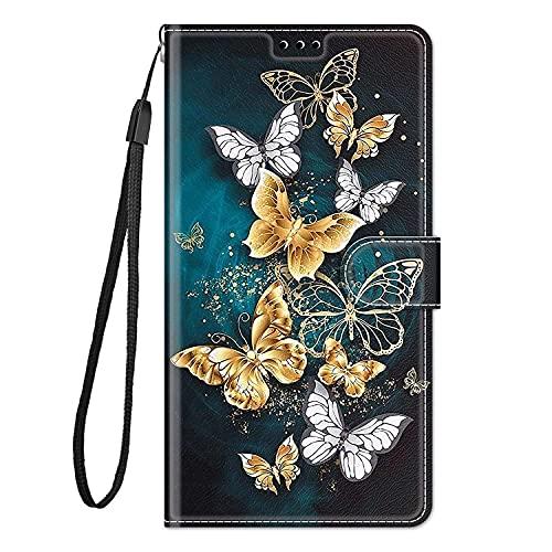 zl one Compatible con/reemplazo para la caja del teléfono Xiaomi Redmi 7A PU protección de cuero lindo pintado ranuras de tarjeta cartera Flip Cover (c20)