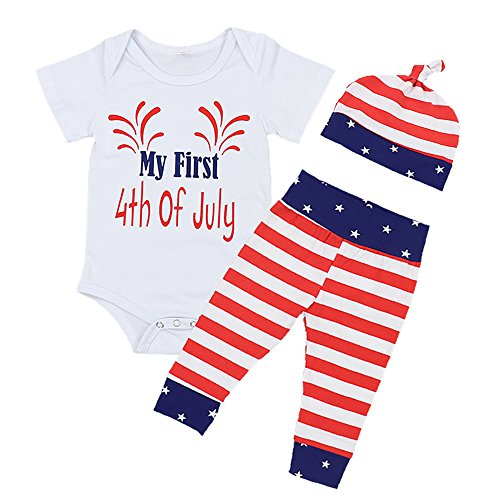 My First 4th of July Infant Independence Day USA Baby Bodysuit 0-3Months