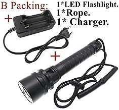 ZGQA-GQA Flashlight Underwater Diving Lighting Lamp Lantern 9000 Lumen L2 LED Flashlight 100M Waterproof Dive Torch