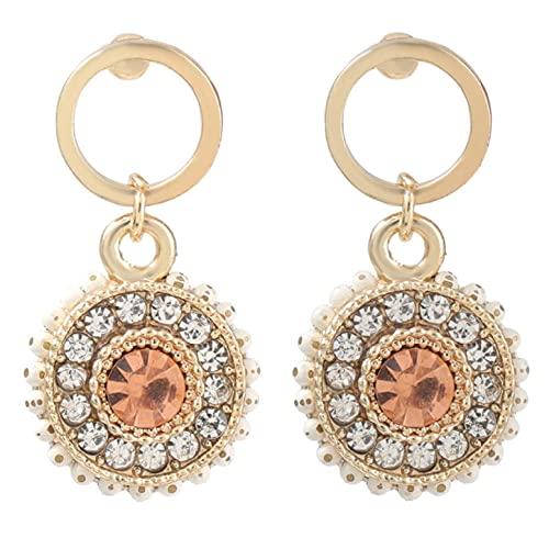 Pendientes redondos de acrílico de círculo de metal de primavera accesorios finos creativos para fiestas pequeñas y bonitas para mujer