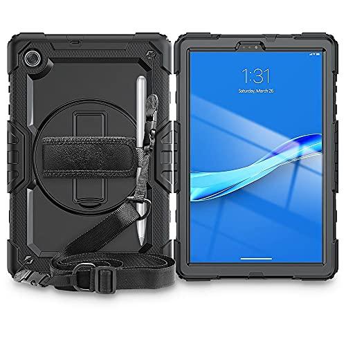 Tech-Protect Solid360 - Funda protectora con función atril   Compatible con Lenovo Tab M10 10.1 2nd Gen TB-X306   Negro
