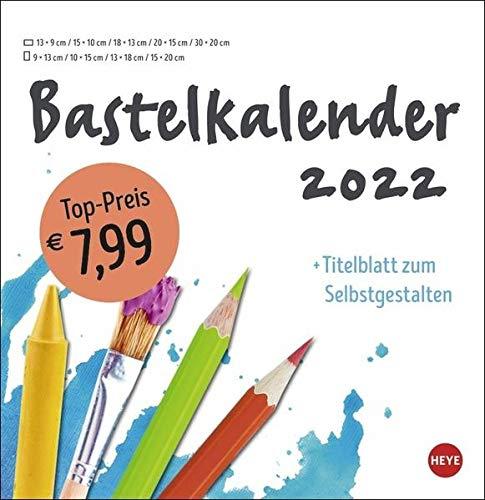 Bastelkalender weiß groß 2022