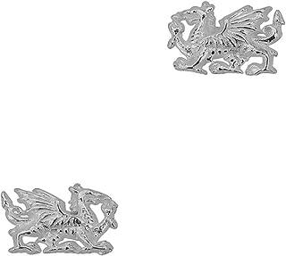 Sterling Silver Welsh Dragon Stud Earrings