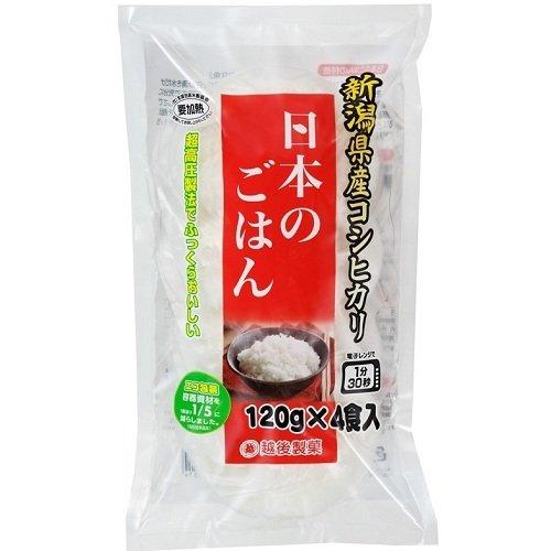 越後製菓 日本の越後のごはん 袋120g×4