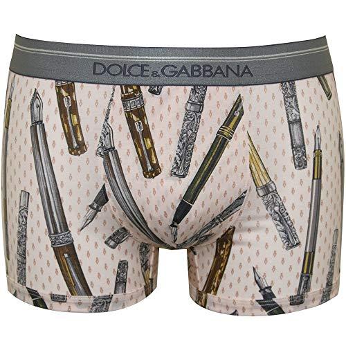 Dolce & Gabbana Scrittura Penne Boxer Uomo Tronco, Rosa Piccolo