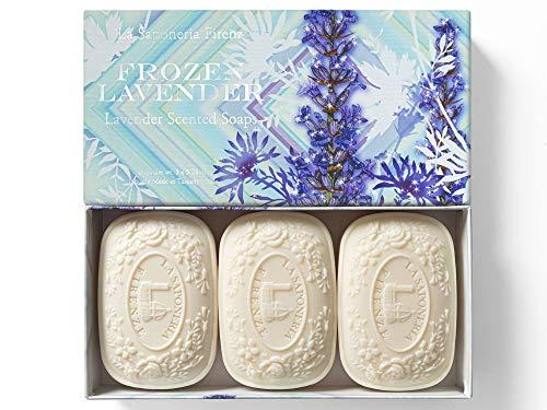 Frozen Lavander, Jabón de Lavanda, pack regalo 3 pastillas de 150 g,...