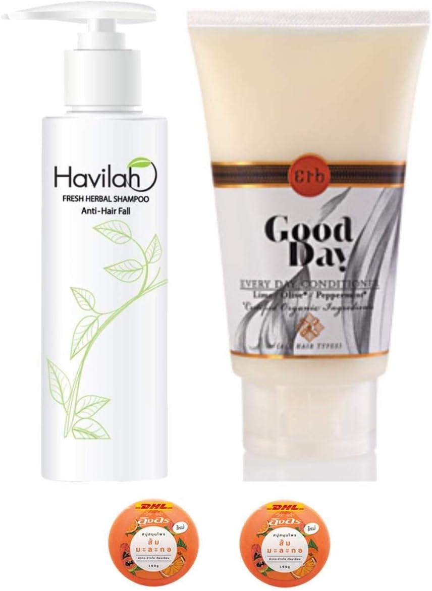 Havilah Extra Set Herbal San Diego Sale price Mall Shampoo Prevent 300ml Loss Hair Natural