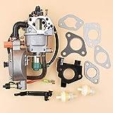LIBEI Kit guarnizioni carburatore carburatore Dual Fuel Manuale per Honda GX390 188F Motore...
