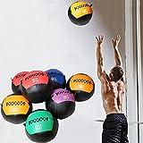 YZBBSH Balón Medicinal Wall Ball Unisexo Entrenamiento de la Fuerza Balones de Ejercicio Peso Opcional 2kg 3kg 4kg 5kg 6kg 7kg 8kg 9kg 10kg 11kg 12kg Bola Medicinal Diámetro 35cm,Solid Core 2kg