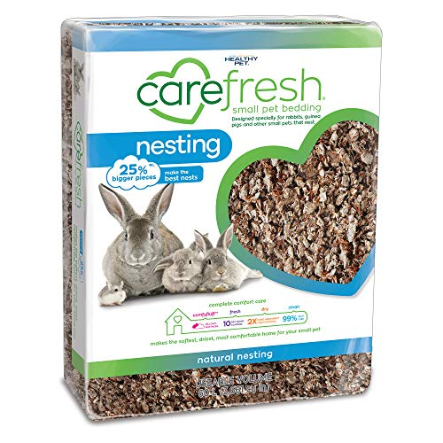Carefresh 99% Dust-Free Natural Paper Nesting Small Pet Bedding with Odor Control, 60 L