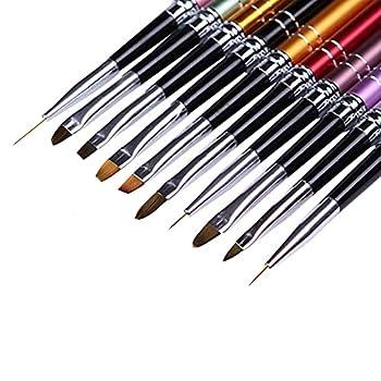 Nail UV Gel Brush Nails Polish Brushes Design French Tips Acrylic Nail Art Brush Gel Builder Brushes Nail Art Pen set Detail Liner Pen