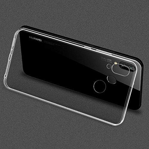 Beetop Kompatibel Mit Huawei Honor Play Hülle, Beetop Schutzhülle Handyhülle Transparent Weiche Silikon TPU Rückschale Case Cover für Huawei Honor Play - Transparent - 5