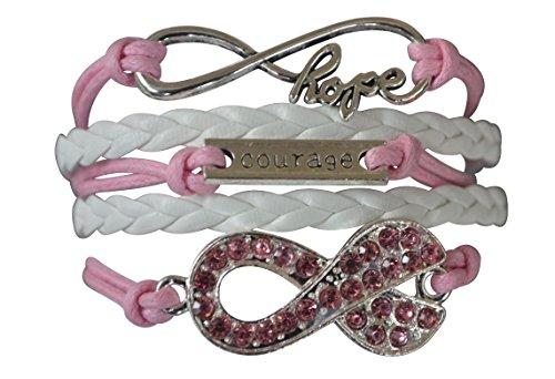 Breast Cancer Bracelet, Cancer Survivor Bracelet, Cancer Awareness, Pink Ribbon, Cancer Survivor Gift for Women