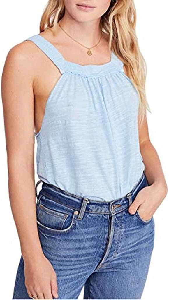 Free People Women's Good for You Tank Small Cool Blue