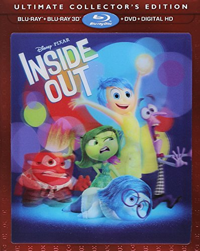 Disney Pixar Inside Out 3D Exclusive Ultimate Collector's Edition ( 3D Blu Ray +...