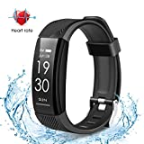 GOTSEVEN Fitness Tracker, Activity Tracker Watch Heart Rate Monitor, IP67 Waterproof Smart Wristband, Pedometer Watch for Android and iOS Smartphone
