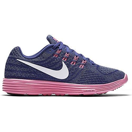 Nike Damen WMNS Lunartempo 2 Laufschuhe, Lila Dk Prpl DST Blk Pnk BLST Bl Gr, 42 EU