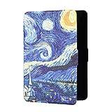 Funda para Nuevo Kindle Paperwhite4 10th Generation,Carcasa Cubierta Protectora Pintada Ultrafina Función automática de Reposo/activación (Noche Estrellada)