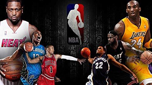 znwrr Rompecabezas 1000 Piezas NBA Basketball Star Adultos 1000 Piezas, desafiante Juego de Rompecabezas / Halloween Christmas Puzzle Gift 38x26 cm